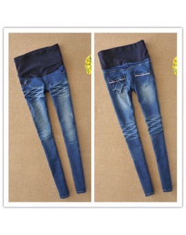 2017 Korean Newest Fashion Maternity Pants For Pregnant Woman Pregnant Jeans Denim Spring Summer Regular Pencil Belly Pants