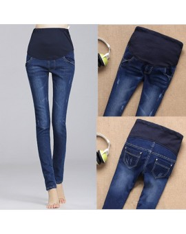 Denim 2017 Maternity Jeans Pants for Pregnant Women Jeans Blue Trousers Maternity Clothes For Pregnant Pants Pregnancy Clothing