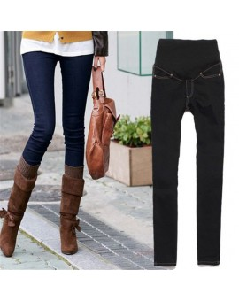 Maternity Pants Jeans Pregnancy Clothing Maternity Clothes For Pregnant Women Jeans Belly Long Denim Blue Black Pants Trousers