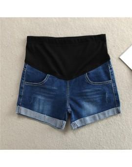 New Maternity Shorts Jeans Pants For Pregnant Women Denim Belly Elastic Waist  Adjustsable Jeans Short For Pregnancy Clothes