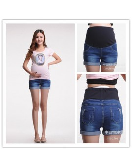New Summer Maternity Jeans Pants Denim Shorts Pregnancy Jeans For Pregnant Women Mother's Clothes Clothing PT09