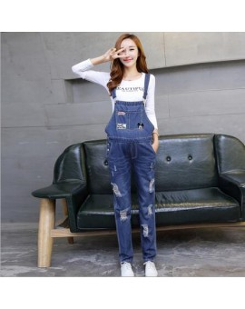 Overalls Trousers Maternity Jeans Pants For Pregnancy Clothes For Pregnant Women Hole Suspenders Jumpsuit  Mother Clothing PT10