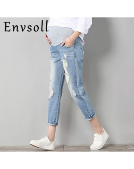 Pregnant Jeans Maternity Pants For Pregnant Women Clothes Trousers Prop Belly Legging Pregnancy Clothing Overalls Ninth Pants