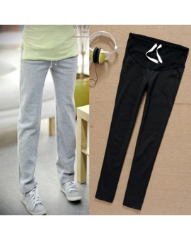 Spring Autumn Maternity Pants for Pregnant Women Sports Trousers Cotton Prol Belly Pants Pregnancy Clothes For Premama PT11